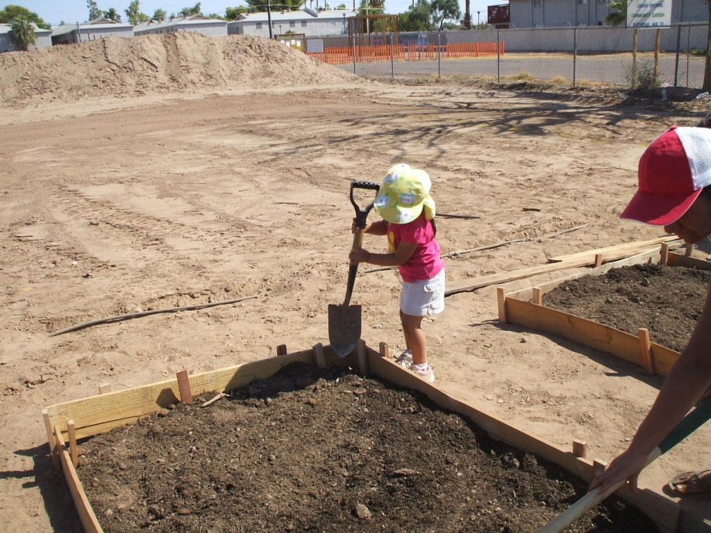 Everyone gets involved at the Community Family Garden on Camelback