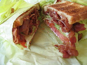 The BLT is a variety of sandwich containing Ba...