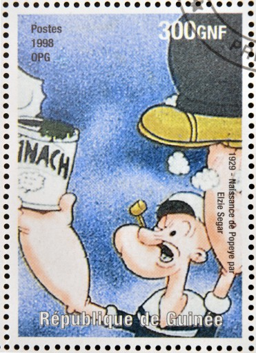 stamp with Popeye & spinach