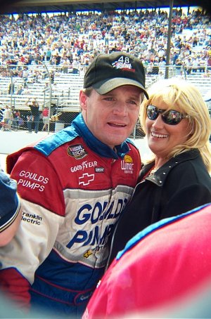 Kenny Wallace and his Wife Kim, taken in 2001 ...