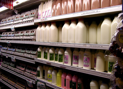 Whole milk showed the largest price increase up 30 cents to $2.79 a gallon.