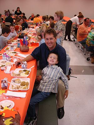 Ian and I at his school's Thanksgiving lunch