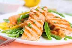 Try grilling salmon for some healthy, low cholesterol cooking (photo credit: BigStockPhotos.com)